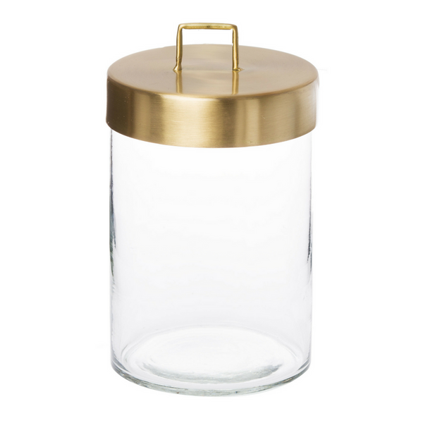 Glass Jar - Brass Lid