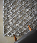 Honeycomb Knit Rug - Grey