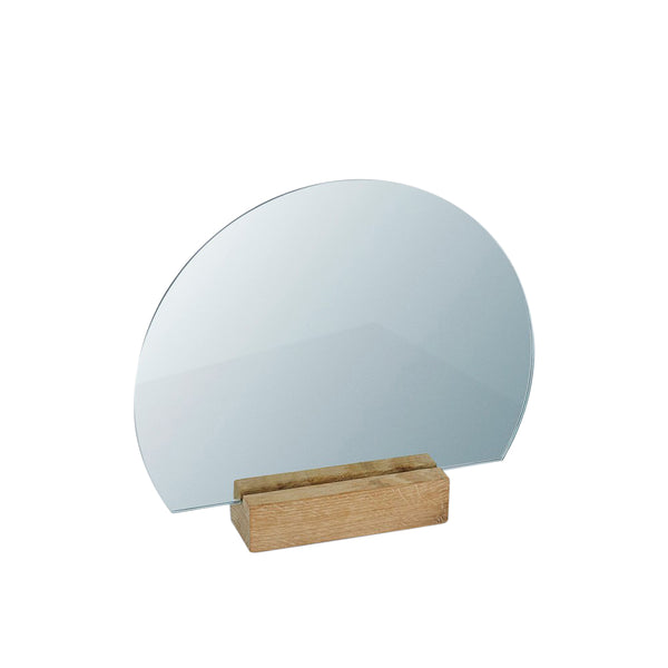 Half Moon Mirror · Solid Oak