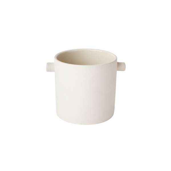 Small Handle Pot - White