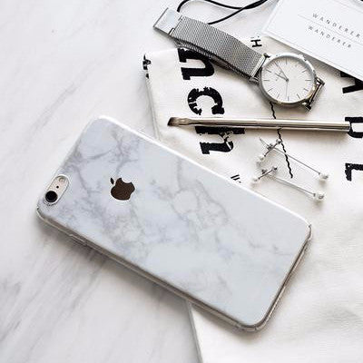 Premium Marble Skin + Clear Case for iPhone | 17:LC