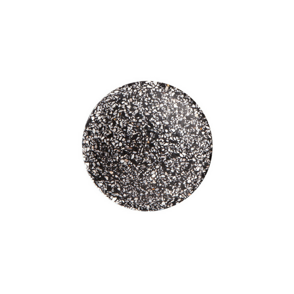 Medium Terrazzo Dimple Tray - Black