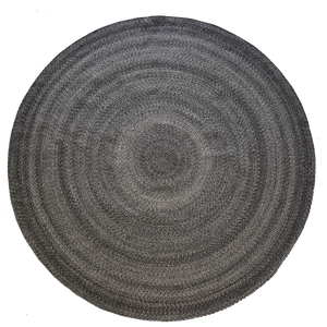 Round Braided Rug - Granite