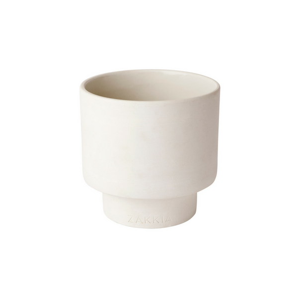 Medium Podium Pot - White