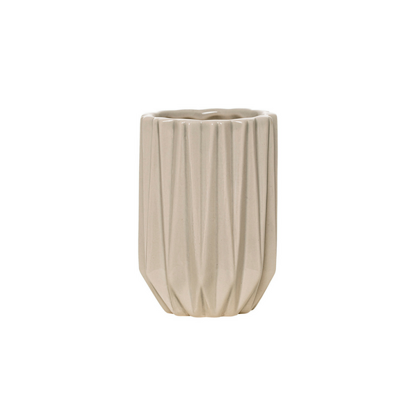 Fluted Decorative Grey Tumbler