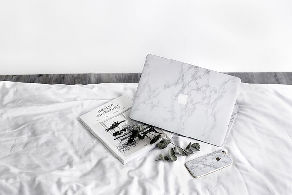 Premium White Marble Skin for Macbook (Front Only)