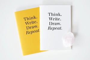 Pocket Notebook - Yellow/White Set of 2