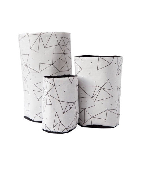 Constellation Fabric Pouch - Set of 3