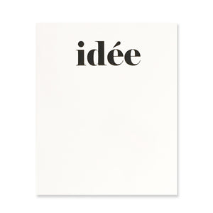 idée Blank Notebook - White