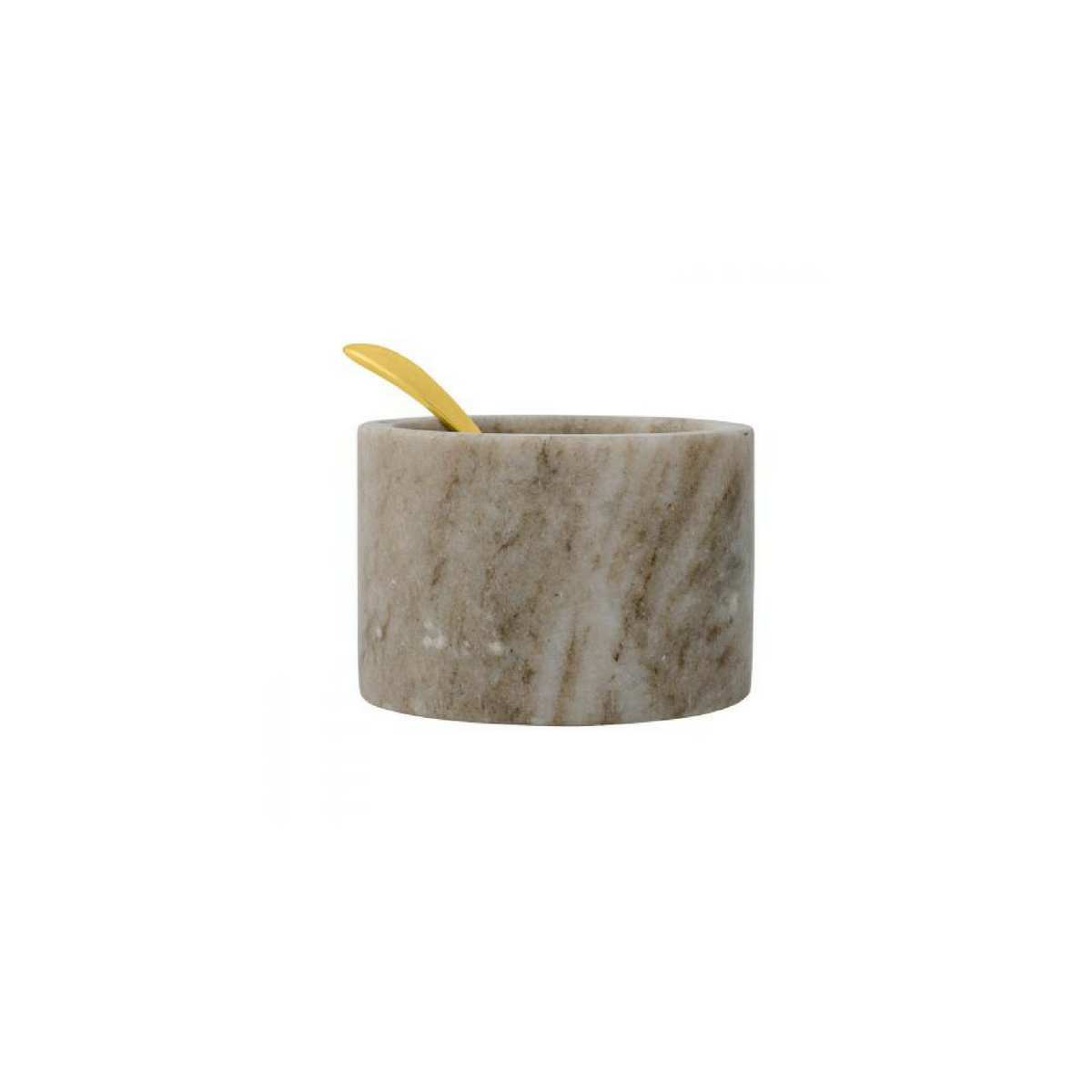 Marble Salt Jar with Gold Spoon