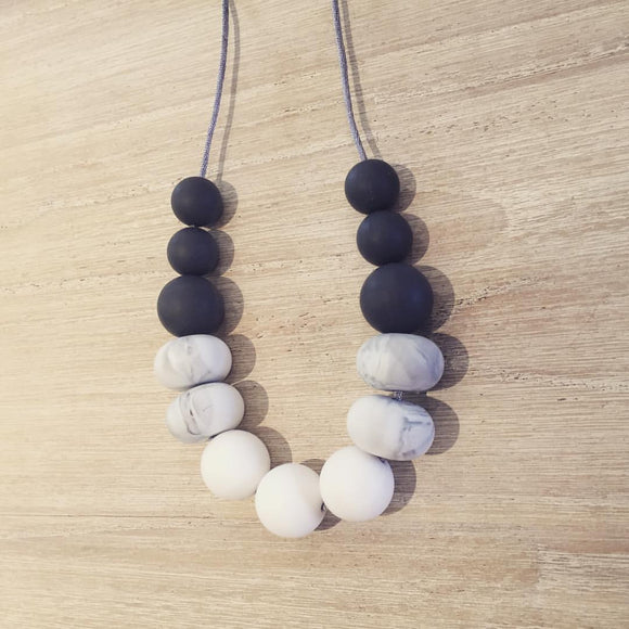 Marble Abacus Silicone Necklace