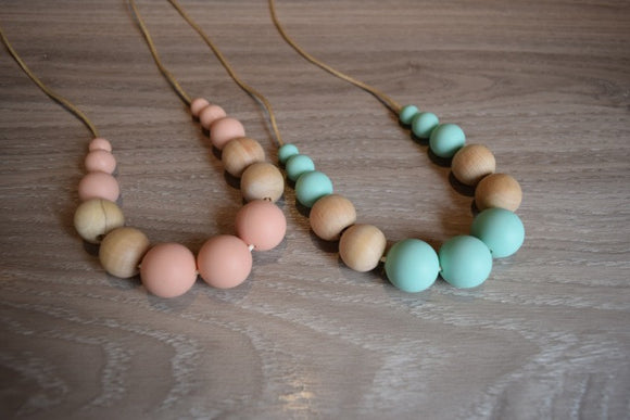Wood Round Silicone Necklace