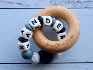 Personalised Wooden Sensory Teething Toy