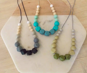 Faded Hex Silicone Necklace