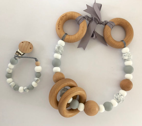 Pram Garland & Dummy Clip bundle