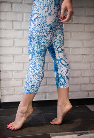 Summer Sky Blue Lung Capri