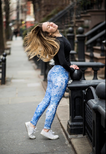 Ocean Blue Lung Half Scale Legging