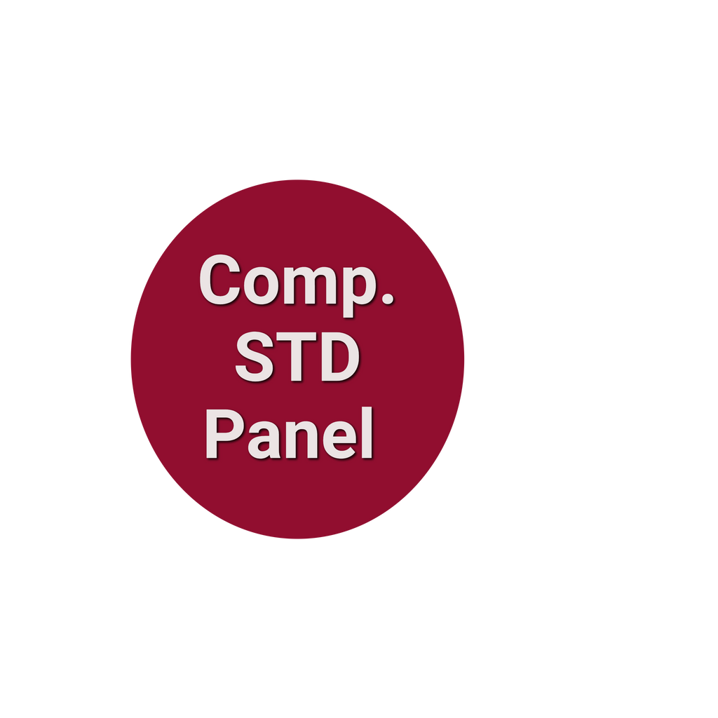 Comprehensive STD Panel Gonorrhea, Syphilis, HIV, Herpes, Hep B & C