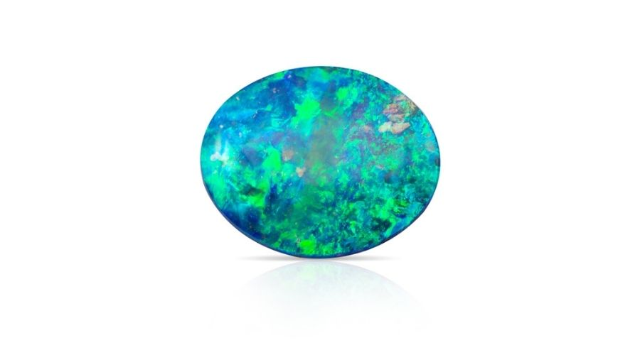 Blue opal isolated on a white background