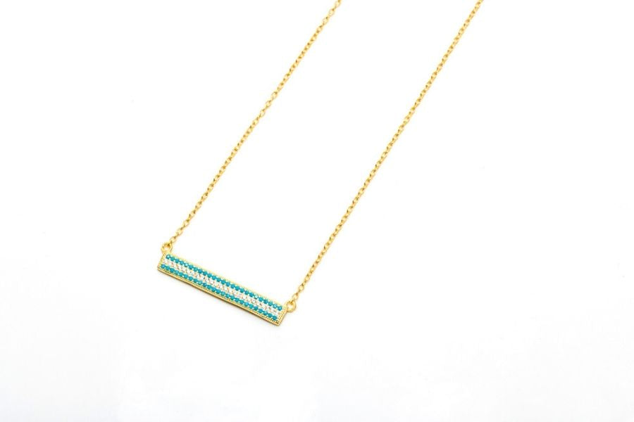 diamond and gold bar necklace