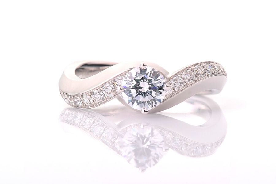 diamond ring with diamond accents