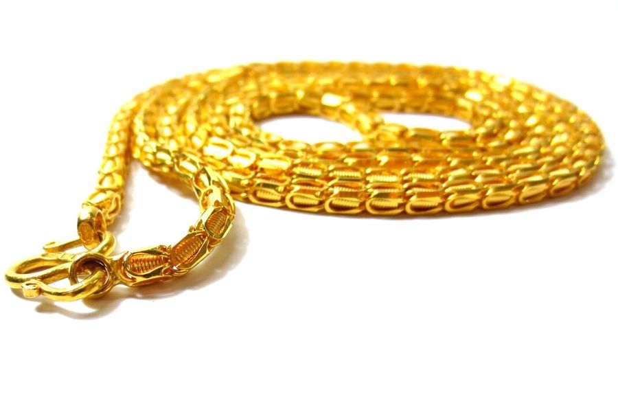 spiral gold necklace chain