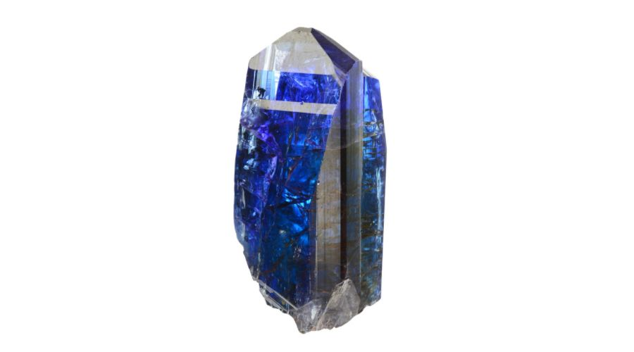Tanzanite gem stone isolated on a white background