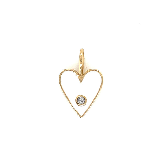 14K Enamel Mini Heart Necklace - Lexie Jordan Jewelry