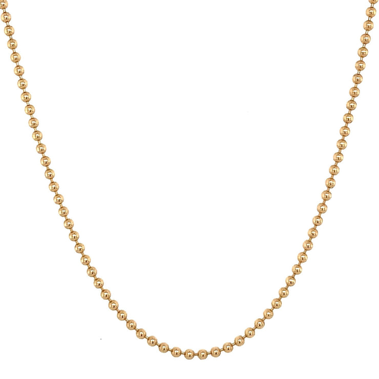 14k Gold Ball Chain - Lexie Jordan Jewelry