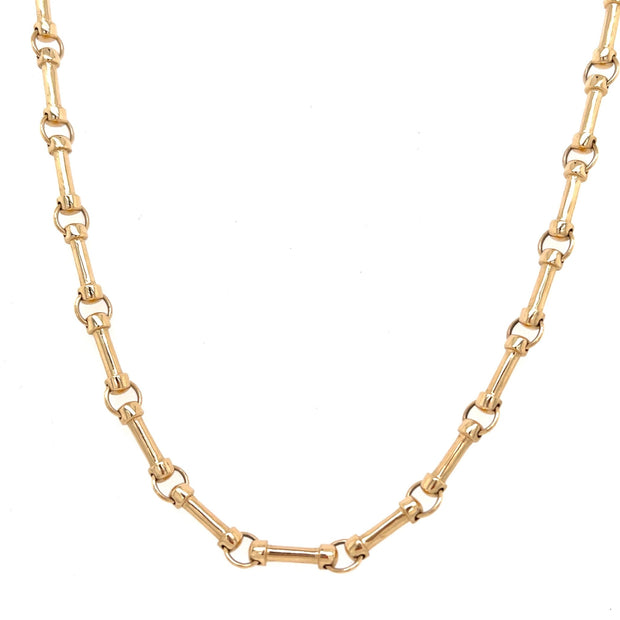 14K Solid Gold Annex Bar Chain - Lexie Jordan Jewelry