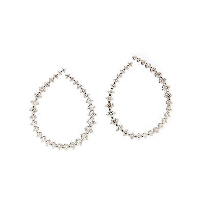 18k White Gold Diamond Tear Drop Earrings - Lexie Jordan Jewelry