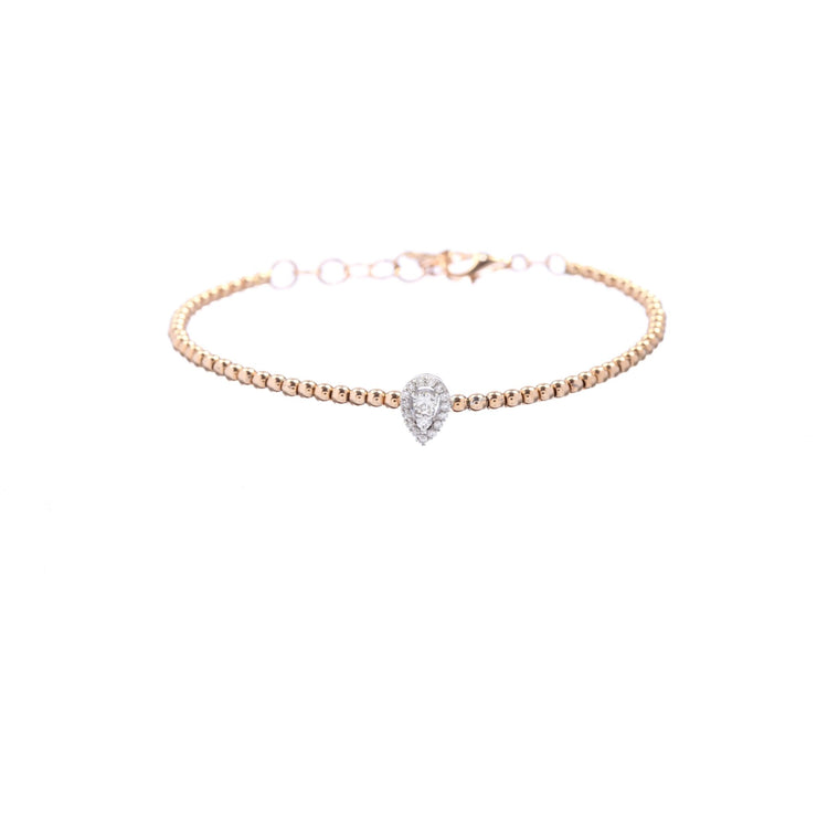 18kt Gold Pear Diamond Bracelet - Lexie Jordan Jewelry