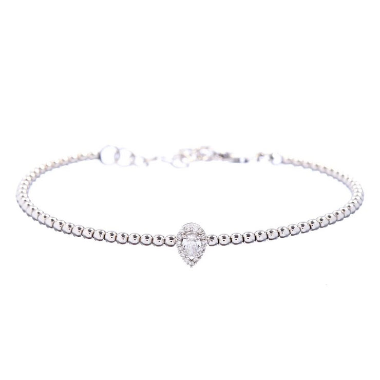 Diamond Pear Bracelet - Lexie Jordan Jewelry
