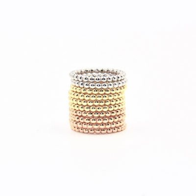 Bead Ring | Stackable Ring | 14K Gold | Fine Details - Lexie Jordan Jewelry