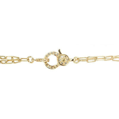 Decorative Diamond Lobster Clasp | 14K Gold | Diamond Finial and Clasp - Lexie Jordan Jewelry