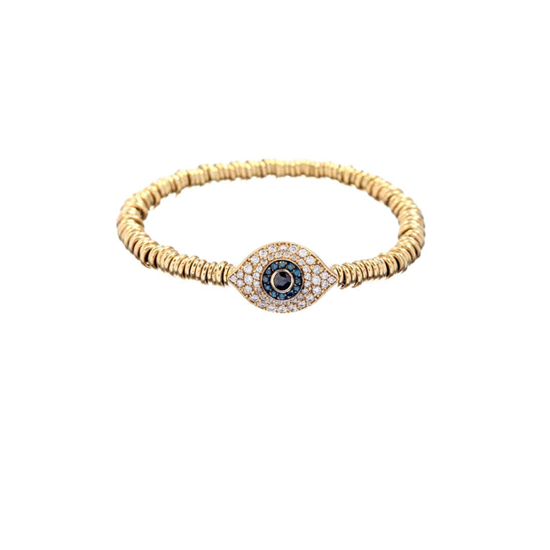Diamond and Sapphire Evil Eye Bracelet - Lexie Jordan Jewelry