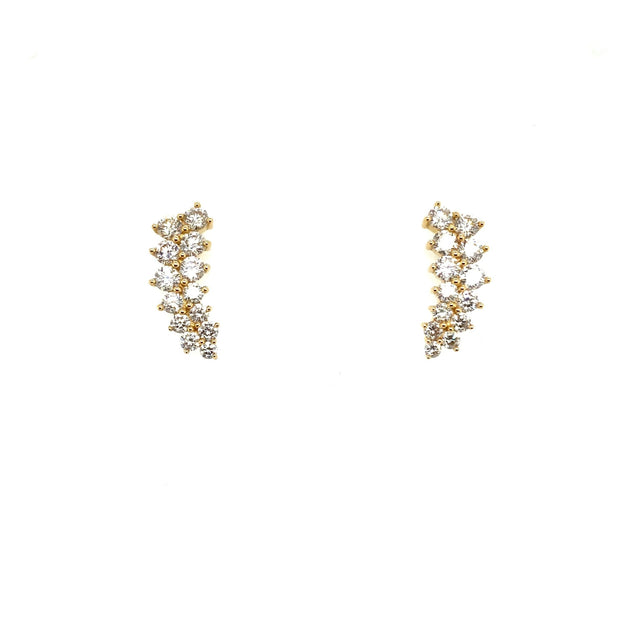 Diamond Cluster Climbers - Lexie Jordan Jewelry