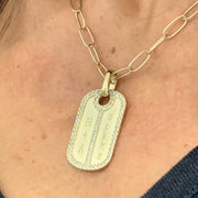 Diamond Dog Tag Necklace - Lexie Jordan Jewelry