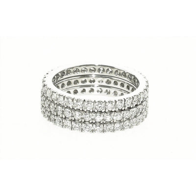 Diamond Eternity Band 18K Gold Matched Diamonds - Lexie Jordan Jewelry
