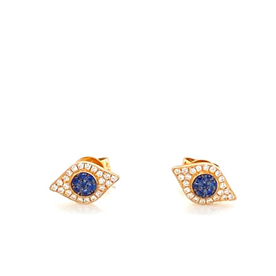 Diamond Evil Eye Earrings - Lexie Jordan Jewelry