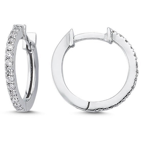 Diamond Hoop Earring - Lexie Jordan Jewelry