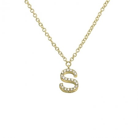 Diamond Initial Necklace - Lexie Jordan Jewelry