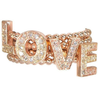 Diamond Letter Rings | Diamonds | 14K Gold | Stackable - Lexie Jordan Jewelry