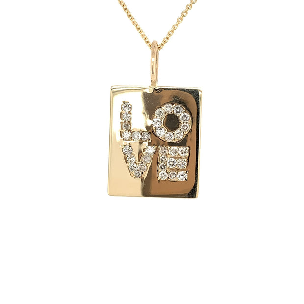 Diamond Love Charm| 14 K solid gold Natural Diamonds - Lexie Jordan Jewelry