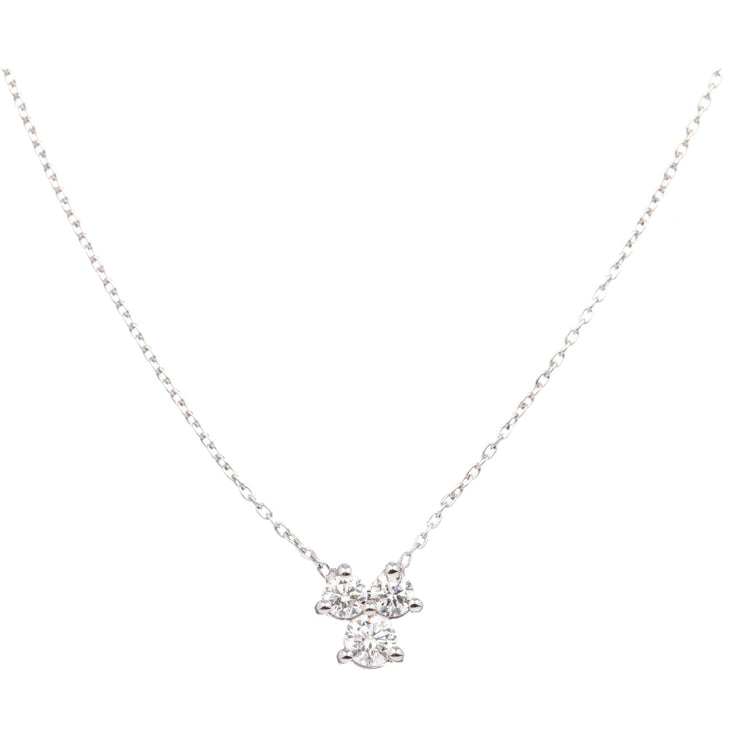 Diamond Necklace| 18K Gold Necklace | Diamond Cluster - Lexie Jordan Jewelry