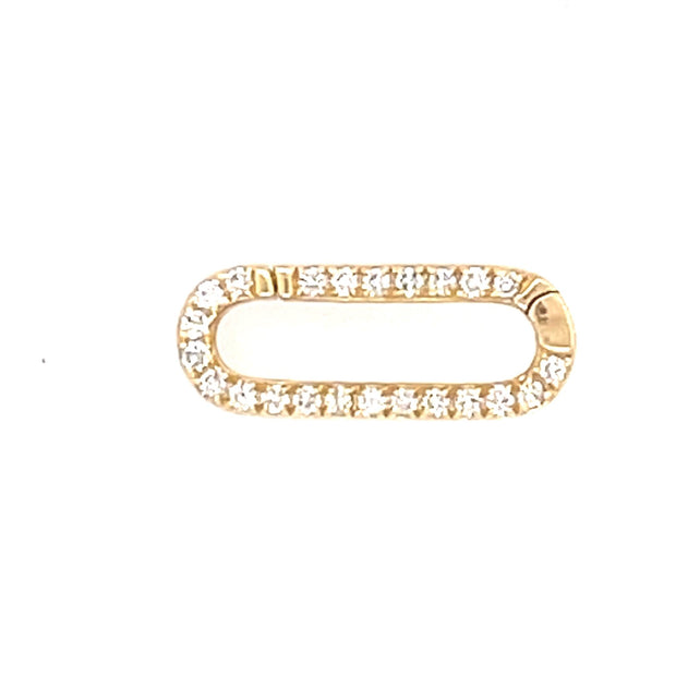 Diamond rectangle Enhancer Lock - Lexie Jordan Jewelry