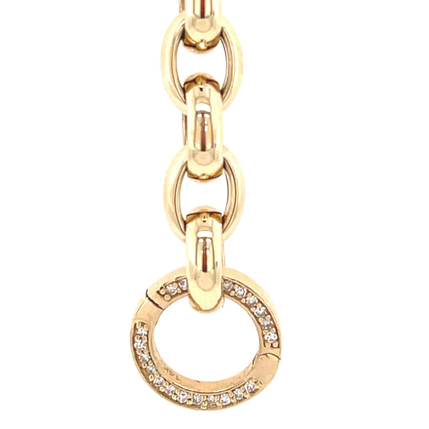 Diamond round lock | Enhancer - Lexie Jordan Jewelry