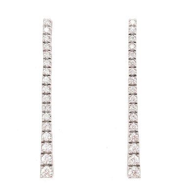 Diamond Tennis Drop Earrings - Lexie Jordan Jewelry