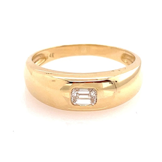 Emerald Cut Diamond Dome Ring - Lexie Jordan Jewelry
