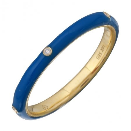 Enamel gold ring - Lexie Jordan Jewelry